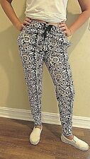 JUICY COUTURE Flower Print Women's Velour Track Pants Size Small NWOT