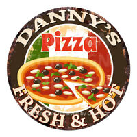 CPFH-0101 DANNY'S PIZZA Chic Tin Sign Father's Day Christmas Gift Ideas For man