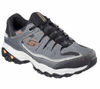 Skechers Charcoal Gray Shoes 4E Wide Width Men Memory Foam Comfort Casual 50125