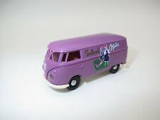 """BREKINA  Volkswagen T1  Bus  """"Milka""""  1:87  in Vitrine !"""