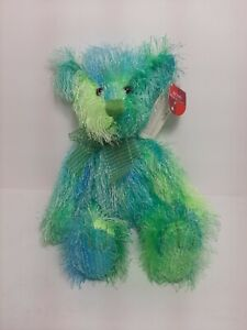 Russ Bears From the Past Roland Teddy Bear Plush Green and Blue 12 inches NWT