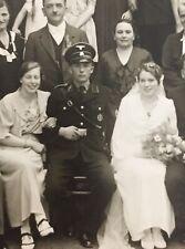 WW2 Postcard Of Wedding With Interesting Allgemeine SS Uniform Shot
