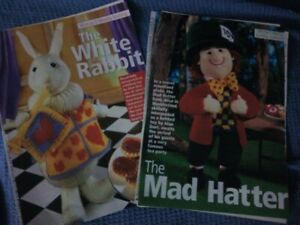 Alan Dart ,The White Rabbit & The Mad Hatter Knitting Patterns
