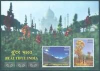 INDIA 2017 Beautiful India Taj Mahal Tree Mountain Flowers Miniature sheet MNH