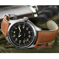 43mm PARNIS black dial date Sapphire Glass miyota 8215 Automatic mens Watch P624