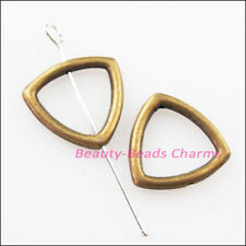 15Pcs Antiqued Bronze Triangle Circle Spacer Frame Beads Charms 15mm