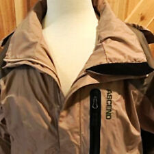 ASCEND Ladies Jacket Khaki Hooded Zippered Front Adjustable Cuffs Bass Pro S/P