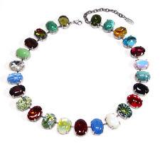 SoHo® Collier Halskette Kette bohemia Glas 50er - 70er Jahre handgemachtes Glas