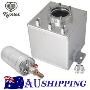 2L Aluminum Swirl Fuel Surge Pot Tank AN6 Fittings With 044 External Fuel Pump