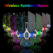 X13 Wireless Gaming Mouse 2.4G Wireless USB Rechargeable Mice Backlight B2U4