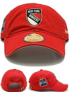 New York Rangers New Reebok Winter Classic Shield Red Strapback Era Hat Cap