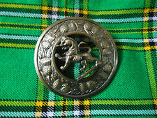 New Scottish Kilt Fly Paid Lion Rampant Design Brooch Antique Finish