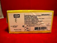 HUBBELL BR20GRY 20 AMP GRAY DUPLEX RECEPTACLE NEMA 5-20R 120V BACK /& SIDE WIRED