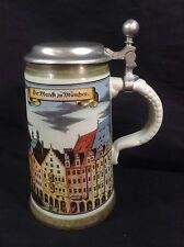 Marzi Remy Lidded Beer Stein Munchen Germany