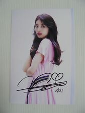 Suzy Bae Miss A 4x6 Photo Korean Actress KPOP auto signed USA Seller SALE Y12