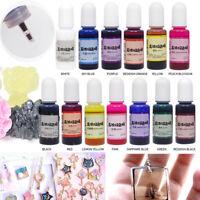 12 Bouteilles 12 Couleurs 10g Époxy UV époxy des bijoux Résine Teinture Pigment