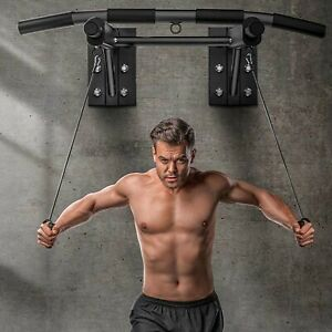 Heavy Duty Pull Up Bar Wall Mounted Chin Up Home Gym Fitness Strength Training