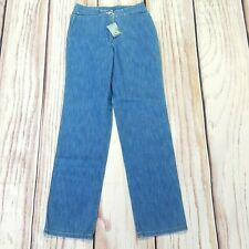 Lacoste Vintage Style Stretch Straight Relaxed High Waist Jeans W26 EU 38 BNWT