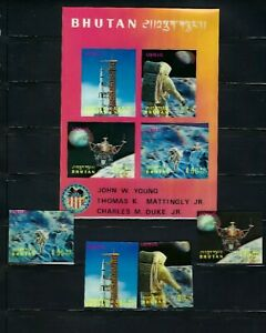 BHUTAN ,Apollo 16 ,SPACE , 3D    , MNH , Unusual