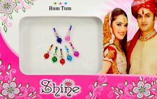 Multi-Color Traditional Bindi Indian Wedding Designer Body Tattoo 7 Nos (KB297)