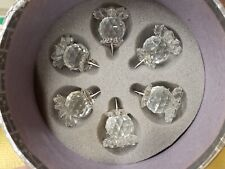 Swarovski Silver Crystal Pineapple Candle Holders 7600 Nr-131 Retired Nib