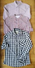 EDC ESPRIT SHIRT bundle Pit to pit 21in slim fit checked striped summer casual