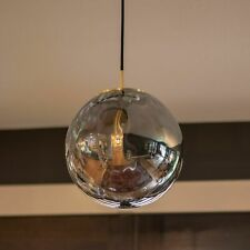 Decor Therapy Manz Sand Gold Modern/Contemporary Clear Glass Globe Pendant Light