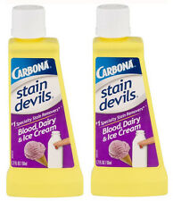 Carbona Stain Devils Specialty Blood, Dairy & Ice Cream Remover (1.7 Oz) - 2 NEW