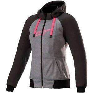 Alpinestars Stella Chrome Sport Ladies Hoodie Biker Jacket Hooded Jacket