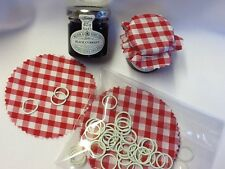 JAM jar covers TIPTREE 1oz 42gm Size Pack Includes fREE Mini Bands x 50