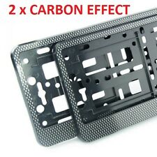 "2 x ""CARBON"" EFFECT NUMBER PLATE HOLDER SURROUND CAR"