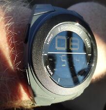 New Mens Futuristic Modern Structure Watch Gray Digital Light & Alarm