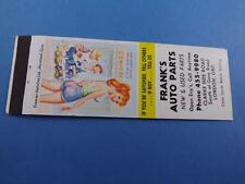 FRANK'S AUTO PARTS LONDON MATCHBOOK VINTAGE PINUP GIRL CANADA ADVERTISING