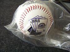 1995 NL National League Wild Card Champions Colorado Rockies baseball ball v1