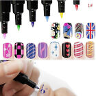 Nail Art Painting Drawing Design Tool UV Gel Nail Polish DIY Art Pen 6 Colors