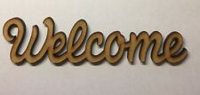 welcome sign wooden Standing word mdf 6 Mm Thick Decoration Laser Cut Blank