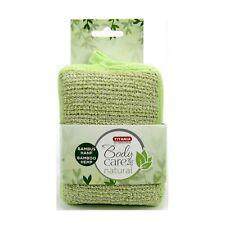 Titania Bade Massageschwamm Bambus Hanf grün eckig