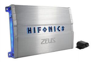Hifonics ZG-3200.1D ZEUS Gamma 3200 Watt Mono Amplifier Car Audio Class D Amp