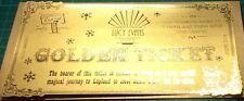 Golden Ticket Lapland Santa Invitation Invite Luxury Personalised Vintage Foiled