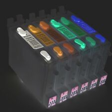 6 Refillable Empty Ink Cartridges Epson Stylus Photo R200 R220 R300 R320 Non OEM