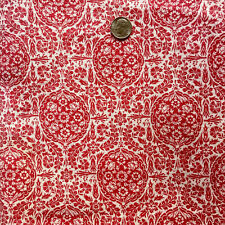 """Vintage Full Feed/Flour Sack  Lovely Very Small Red Floral Design  38"""" x 36"""""""