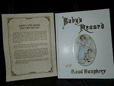 Vtg♡Maud Humphreys Baby Book Record Milestones Babys Record Christening☆Unused☆