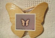 Unfinished Cutout Wooden Shape Butterfly with Peg 5-1/2'' tall Paintable