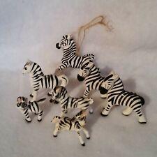 New listing 7 Mini Zebra Figurines Excellent Condition