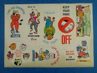 Vintage Unused THE SMITH SET STICKER SHEET Childrens Club 1980's WH Smith