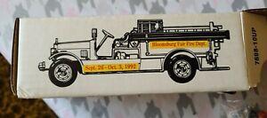 Bloomsburg Fair Fire Truck Made By Ertle 1993