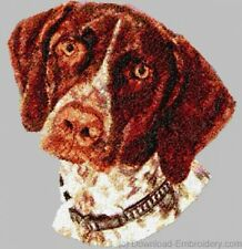 Embroidered Ladies Short-Sleeved T-Shirt - German Shorthaired Pointer Dle1542