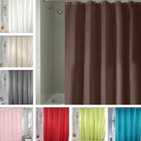 Farbiger Duschvorhang Unifarben Weiß Textil 180x180cm Wannenvorhang mit Ringe