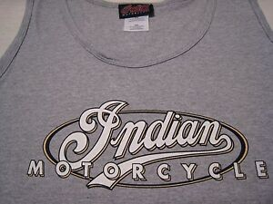Indian Motorcycle Gray Tank Top Shirt - Small