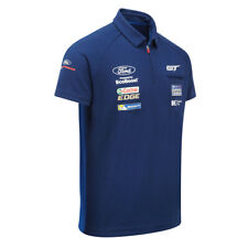 Sale! Ford Motorsport Mens Polo Shirt Zip Collar WEC Ford GT Ganassi Racing Team